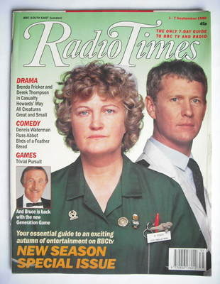 <!--1990-09-01-->Radio Times magazine - Brenda Fricker and Derek Thompson c