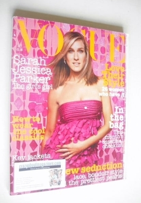 <!--2003-10-->British Vogue magazine - October 2003 - Sarah Jessica Parker