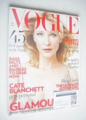 <!--2009-01-->British Vogue magazine - January 2009 - Cate Blanchett cover
