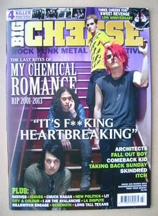 Big Cheese magazine - March 2014 - My Chemical Romance cover
