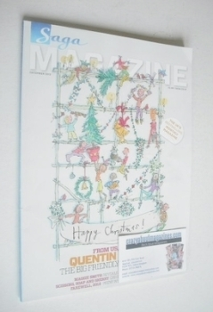 SAGA magazine - December 2012 - Quentin Blake illustration cover