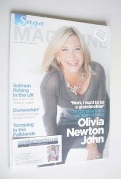 SAGA magazine - April 2012 - Olivia Newton John cover