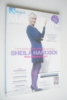 SAGA magazine - November 2011 - Sheila Hancock cover