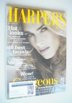 British Harpers & Queen magazine - May 2005 - Brooke Shields cover