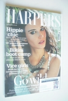British Harpers & Queen magazine - June 2005 - Eva Green cover