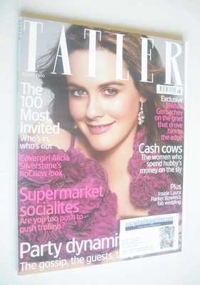 <!--2006-08-->Tatler magazine - August 2006 - Alicia Silverstone cover