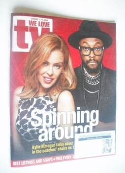 We Love TV magazine - Kylie Minogue and Will.i.am cover (11-17 January 2014)