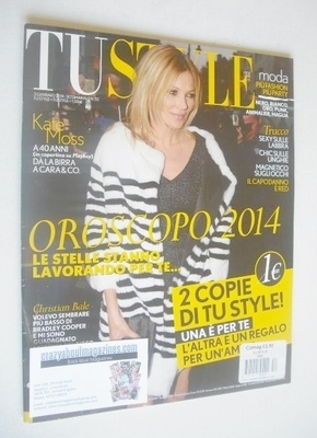 TU Style magazine - Kate Moss cover (3 January 2014 - Italian Issue)