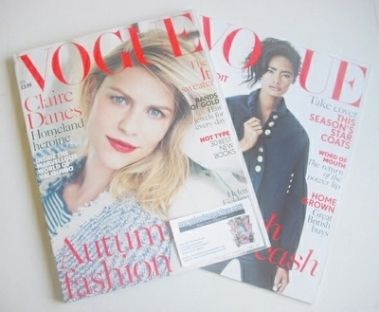 <!--2013-11-->British Vogue magazine - November 2013 - Claire Danes cover