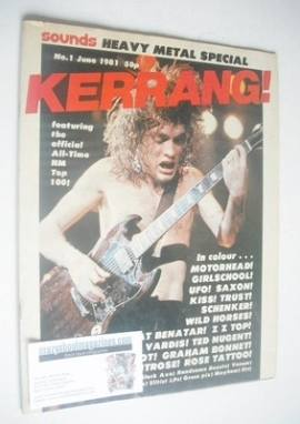 <!--1981-06-->Kerrang magazine - Angus Young cover (June 1981 - Issue 1)