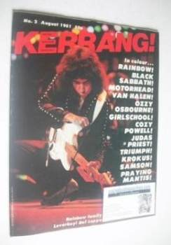 Kerrang magazine - Ritchie Blackmore cover (August 1981 - Issue 2)