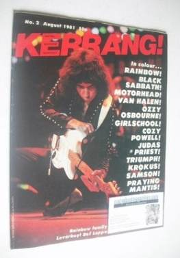 <!--1981-08-->Kerrang magazine - Ritchie Blackmore cover (August 1981 - Iss