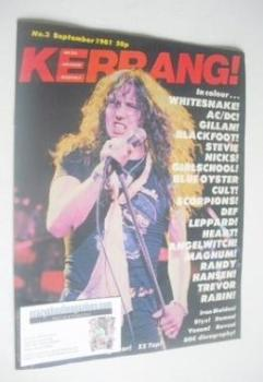 Kerrang magazine - David Coverdale cover (September 1981 - Issue 3)