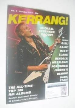 Kerrang magazine - Michael Schenker cover (October 1981 - Issue 4)