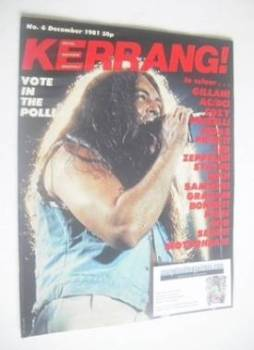 Kerrang magazine - Ian Gillan cover (December 1981 - Issue 6)