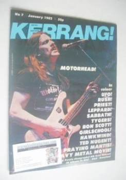 Kerrang magazine - Lemmy cover (January 1982 - Issue 7)