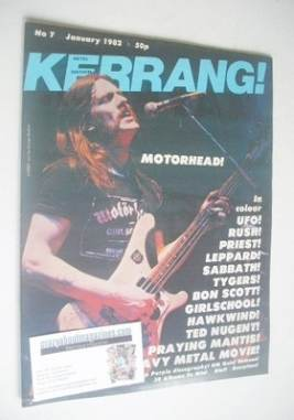 <!--1982-01-->Kerrang magazine - Lemmy cover (January 1982 - Issue 7)