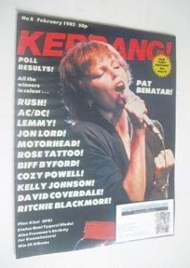 <!--1982-02-->Kerrang magazine - Pat Benatar cover (February 1982 - Issue 8