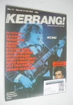 Kerrang magazine - Angus Young cover (11-24 March 1982 - Issue 11)