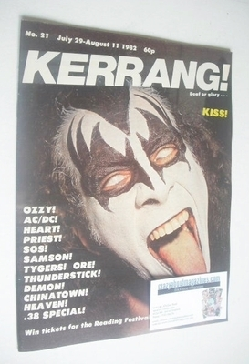 <!--1982-07-29-->Kerrang magazine - Kiss cover (29 July - 11 August 1982 -