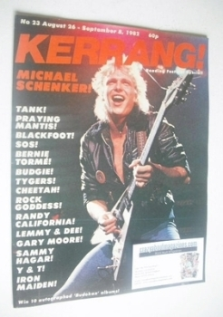 Kerrang magazine - Michael Schenker cover (26 August - 8 September 1982 - Issue 23)