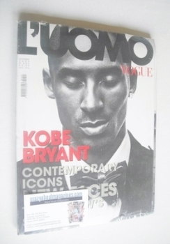 <!--2009-10-->L'Uomo Vogue magazine - October 2009 - Kobe Bryant cover