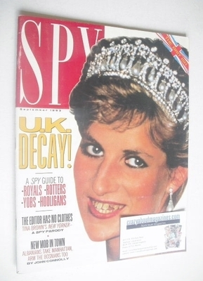 <!--1993-09-->Spy magazine - September 1993 - Princess Diana cover
