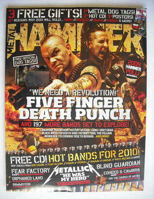 <!--2010-02-->Metal Hammer magazine - Five Finger Death Punch (Februrary 20