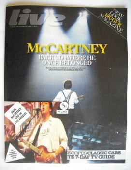 Live magazine - Paul McCartney cover (17 January 2010)