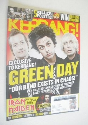 <!--2012-07-21-->Kerrang magazine - Green Day cover (21 July 2012 - Issue 1