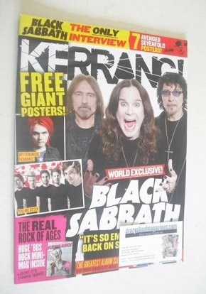 <!--2012-06-02-->Kerrang magazine - Black Sabbath cover (2 June 2012 - Issu