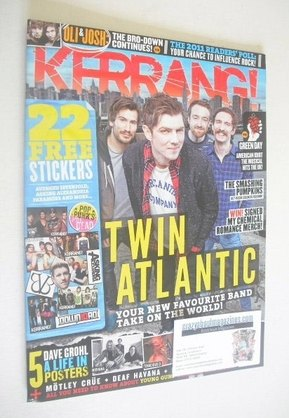 <!--2011-12-10-->Kerrang magazine - Twin Atlantic cover (10 December 2011 -