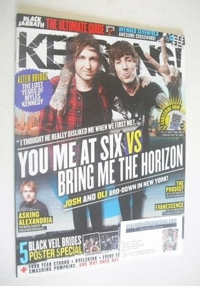 <!--2011-11-26-->Kerrang magazine - Josh Franceschi and Oli Sykes cover (26