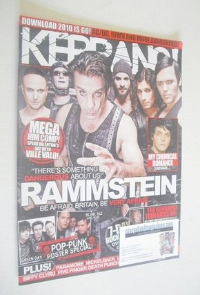 <!--2010-01-30-->Kerrang magazine - Rammstein cover (30 January 2010 - Issu