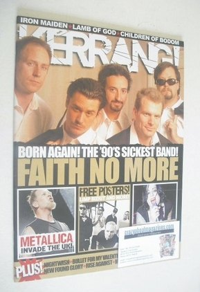 <!--2009-03-14-->Kerrang magazine - Faith No More cover (14 March 2009 - Is