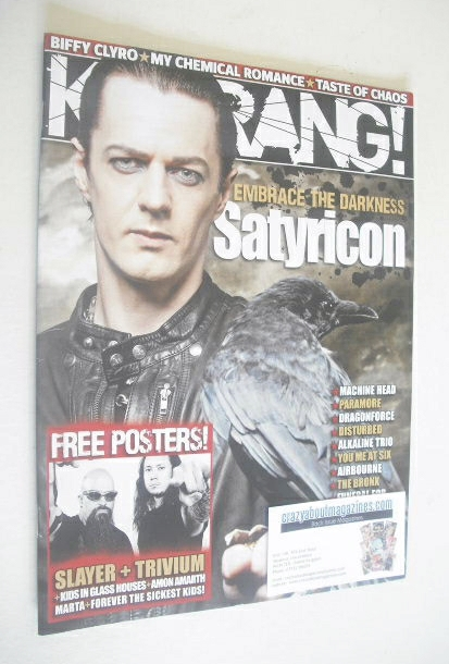 <!--2008-11-01-->Kerrang magazine - Satyricon cover (1 November 2008 - Issu