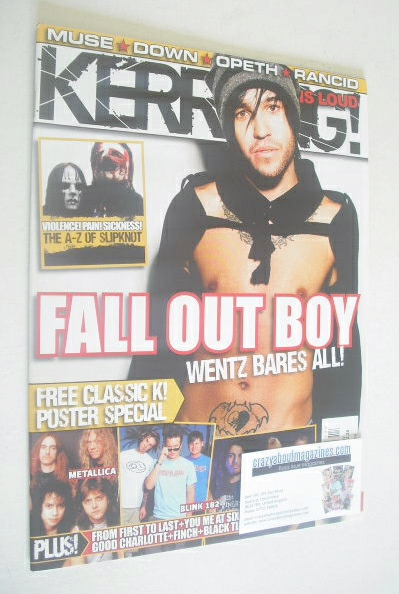 <!--2008-04-26-->Kerrang magazine - Pete Wentz cover (26 April 2008 - Issue