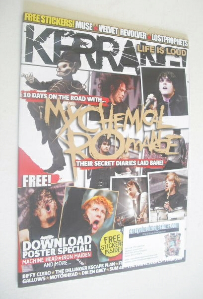 <!--2007-06-30-->Kerrang magazine - My Chemical Romance cover (30 June 2007