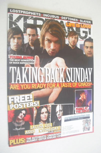 <!--2006-11-11-->Kerrang magazine - Taking Back Sunday cover (11 November 2