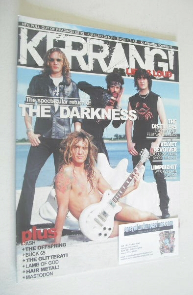 <!--2004-08-28-->Kerrang magazine - The Darkness cover (28 August 2004 - Is