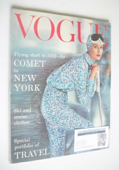 British Vogue magazine - January 1959 (Vintage Issue)