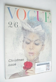 British Vogue magazine - December 1959 (Vintage Issue)
