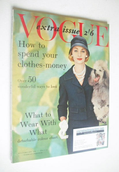 <!--1959-02-->British Vogue magazine - Mid-February 1959 (Vintage Issue)