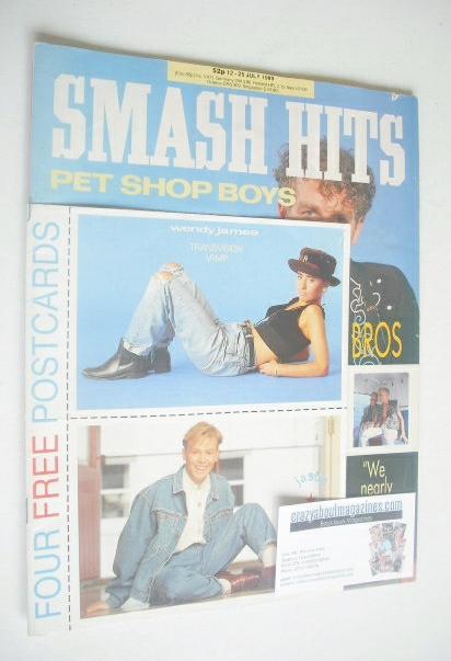 <!--1989-07-12-->Smash Hits magazine - Pet Shop Boys cover (12-25 July 1989
