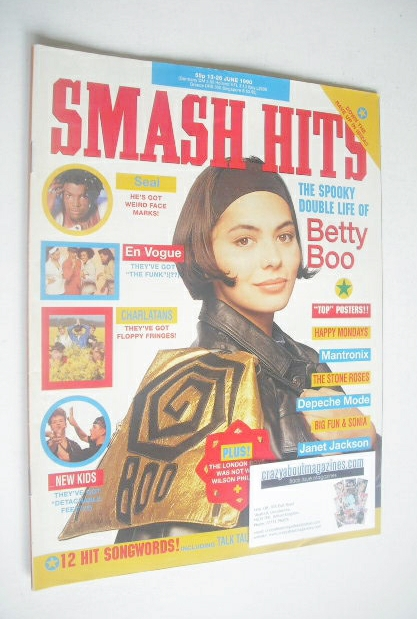<!--1990-06-13-->Smash Hits magazine - Betty Boo cover (13-26 June 1990)