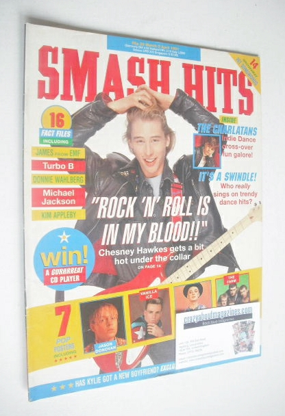 <!--1991-03-20-->Smash Hits magazine - Chesney Hawkes cover (20 March-2 Apr