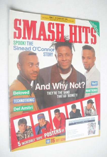<!--1990-02-07-->Smash Hits magazine - And Why Not? cover (7-20 February 19