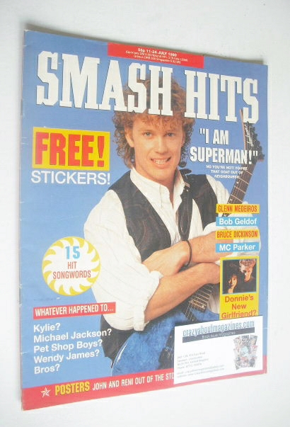 <!--1990-07-11-->Smash Hits magazine - Craig McLachlan cover (11-24 July 19
