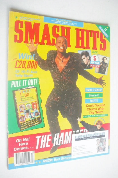 <!--1991-03-06-->Smash Hits magazine - MC Hammer cover (6-19 March 1991)