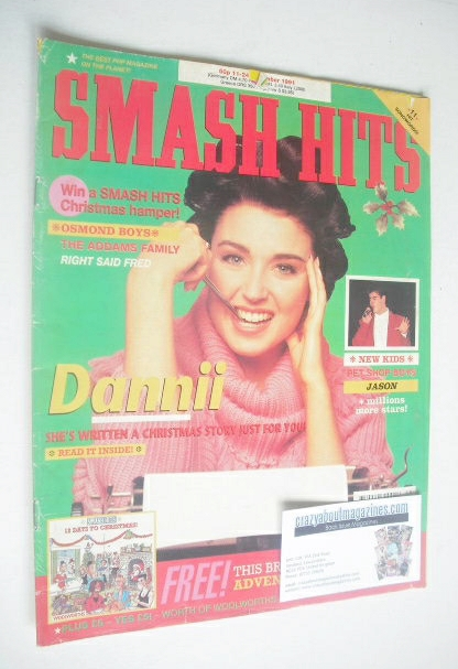 <!--1991-12-11-->Smash Hits magazine - Dannii Minogue cover (11-24 December